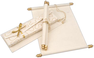 wedding scroll invitations