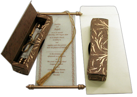 Scroll invitations for weddings engagements birthdays bar