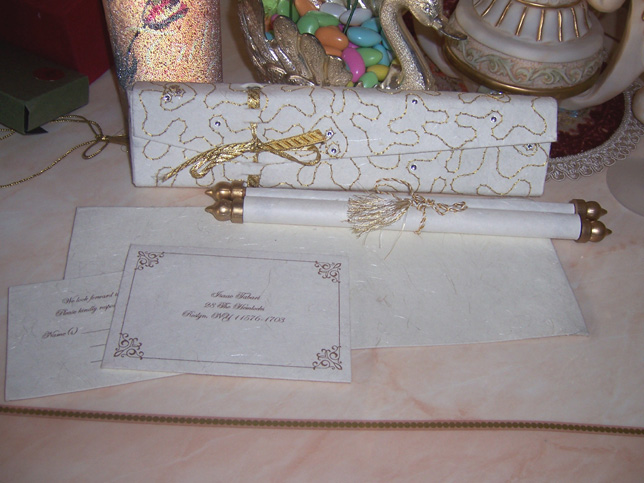 unique scroll invitations for weddings engagements birthdays bar