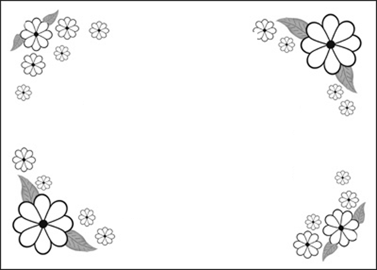 Nice Floral Border Coloring Pages Crest - Coloring Paper ...