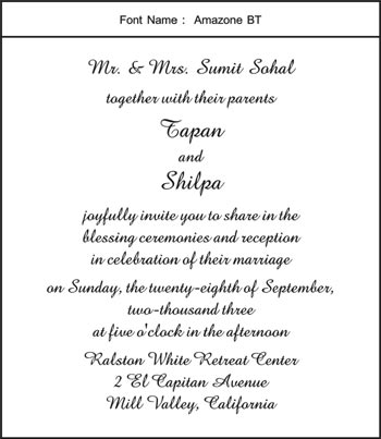 Majestic invites wedding engagement birthday bar mitzvah bat amazone bt click to see complete page layout in this font stopboris Gallery